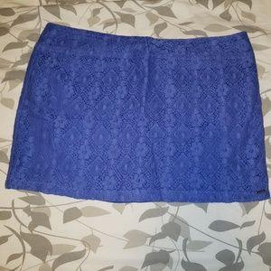 Volcom purple lace miniskirt